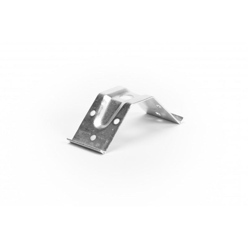 Stalo kampas 40x95x1,5 mm, cinkuotas, baltas