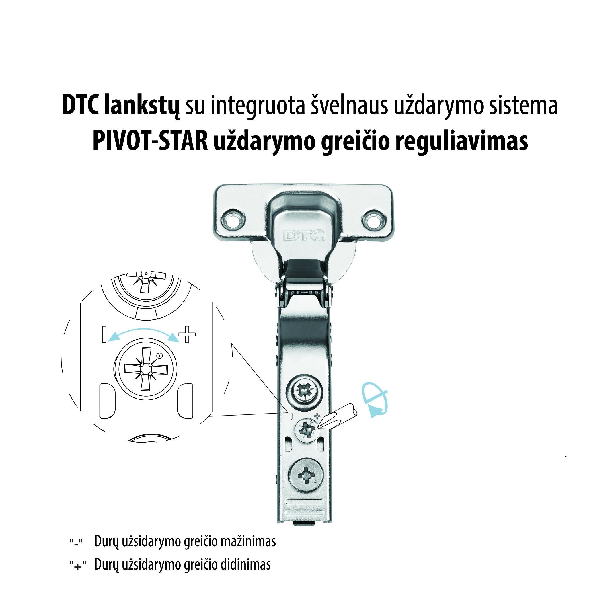 DTC lansktų užsidarymo greičio reguliavimas