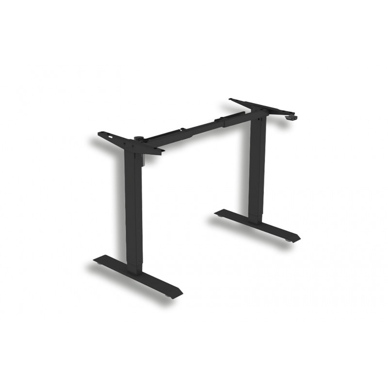 Juodas elektra reguliuojamo stalo rėmas ergofount